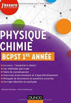 Livres Couvertures de Physique-Chimie BCPST 1re année