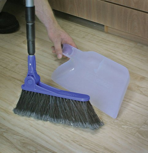 RV Adjustable Broom and Dustpan We love this broom! It's telescoping handle makes it store very small, but it's full size and very RV compatible!