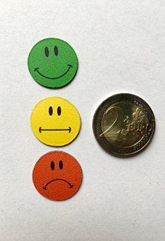 Livres Couvertures de Smileyboard Lot de 30aimants multicolores au motif smiley 10smileys souriants jaunes, 10 smileys neutres jaunes et 10smileys rouges tristes pour présentations, cours, projet de travail, formation..