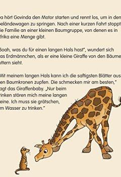 Buchdeckel von Warum Zebras Streifen haben ... Eine Kinderyoga Mitmachgeschichte mit Govinda, dem Erdmännchen