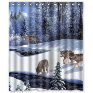 Wolf Pack in Winter Shower Curtain from Amazon!