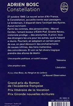 Livres Couvertures de Constellation - Prix de l'Académie Française 2014