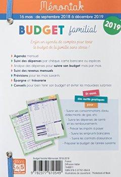 Livres Couvertures de Budget familial Mémoniak 2018-2019