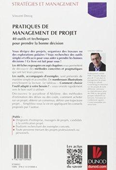 Livres Couvertures de Pratiques de management de projet - 40 outils et techniques pour prendre la bonne décision
