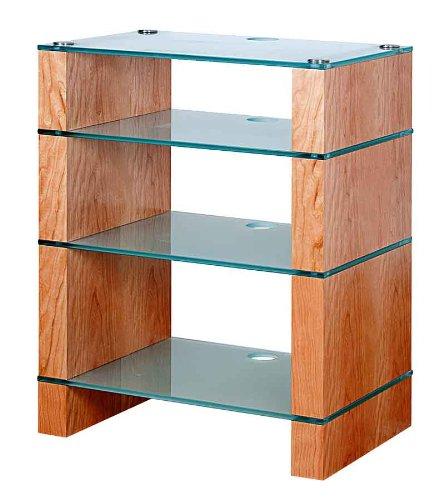 Image of BLOK STAX DeLuxe 400 Four Shelf Cherry Hifi Audio Stand & AV TV Furniture Rack Unit (B008AHJ2ZY)