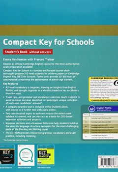 Livres Couvertures de Compact Key for Schools Student's Book without Answers with CD-ROM.