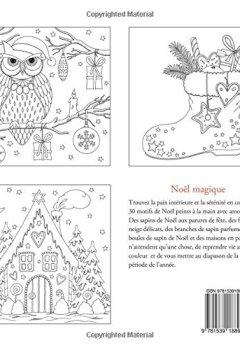 Livres Couvertures de Noël magique: livre de coloriage anti-stress