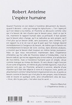 Livres Couvertures de L'espèce humaine