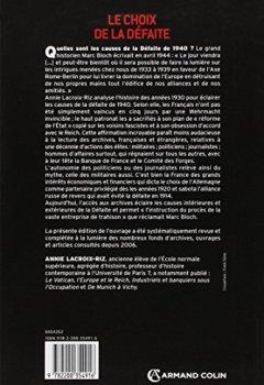 Livres Couvertures de Le choix de la défaite: Les élites françaises dans les années 1930