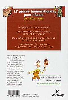 Livres Couvertures de 17 pièces humoristiques pour l'école du CE2 au CM2