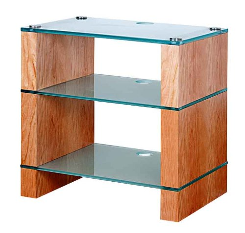 Image of BLOK STAX DeLuxe 300 Three Shelf Cherry Hifi Audio Stand & AV TV Furniture Rack Unit (B008AHJ4CA)