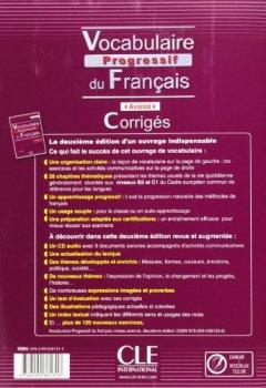 Vocabulaire progressif du français - Niveau avancé - Corrigés - 2ème édition de Indie Author