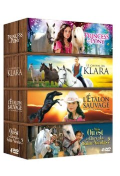 Livres Couvertures de Cheval Coffret 4 DVD : Princess and Pony + Le cheval de Klara + L'étalon sauvage + Le cheval de St Nicolas