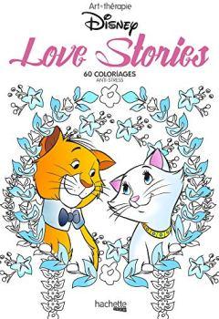 Livres Couvertures de Love stories Disney: Mini blocs coloriages