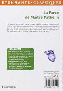 Livres Couvertures de La Farce de Maitre Pathelin