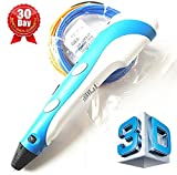 7TECH 3D Printing Pen with LCD Screen Ver.2015 light Blue Free Spatula Included
