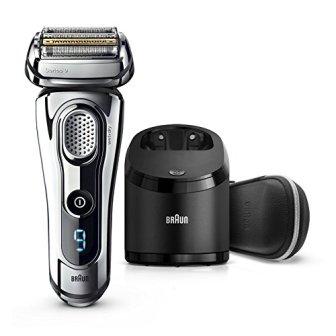 Braun Series99296cc elektrischer Rasierer / Rasierapparat(Reinigungsstation (Clean und Charge) und Premium Leder-Etui,...