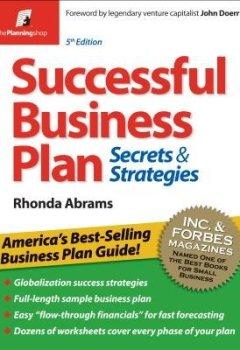Livres Couvertures de (Successful Business Plan: Secrets & Strategies) By Abrams, Rhonda (Author) Paperback on (09 , 2010)