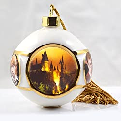 Universal Studios Wizarding World of Harry Potter Deluxe Hogwarts Castle China Christmas Ornament