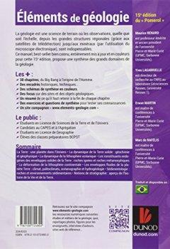 Livres Couvertures de Eléments de géologie - 15e édition du Pomerol - Cours, QCM et site compagnon