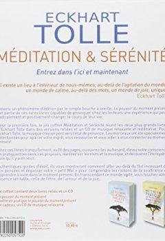 Livres Couvertures de Coffret Méditation & Sérénité : 2 livres reliés : Le pouvoir du moment présent ; Mettre en pratique le pouvoir du moment présent (1CD audio)