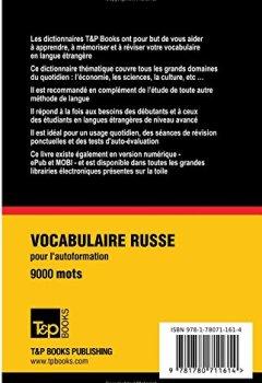 Livres Couvertures de Vocabulaire Français-Russe pour l'autoformation. 9000 mots