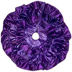 "18"" Inch Mini Ruffle Christmas Tree Skirt (Purple)"