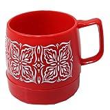 (ダイネックス) DINEX『WIDE PRINTED 8oz Mug Cup』 (1.RED/FLOWER, ONE SIZE)