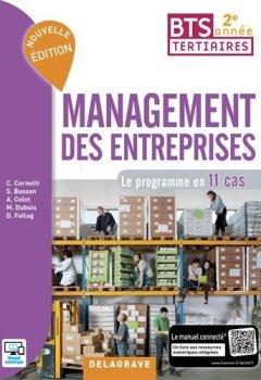 Livres Couvertures de Management des entreprises BTS tertiaires 2e année : Le programme en 11 cas