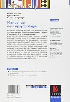 Livres Couvertures de Manuel de neuropsychologie - 4ème édition