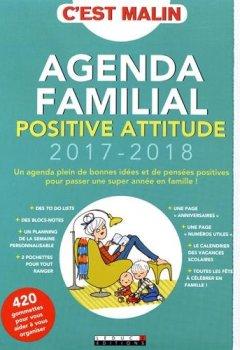 Livres Couvertures de Agenda familial positive attitude 2017-2018, c'est malin !