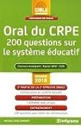 Oral du CRPE : 200 questions sur le système éducatif