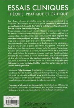 Livres Couvertures de Essais cliniques : théorie, pratique et critique