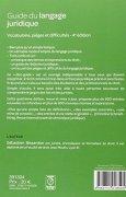 Livres Couvertures de Guide du langage juridique : Vocabulaire, pièges et difficultés