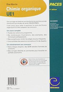 Livres Couvertures de Chimie organique - UE1 PACES - 4ed: Manuel, cours + QCM corrigés