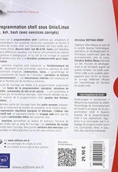 Livres Couvertures de Programmation shell sous Unix/Linux - sh, ksh, bash (exercices pratiques et corrigés) (4ième édition)