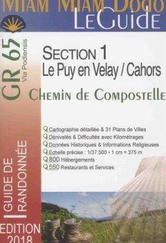 Livres Couvertures de Miam Miam Dodo GR65 2018 Section 1 (Le Puy-en-Velay / Cahors)
