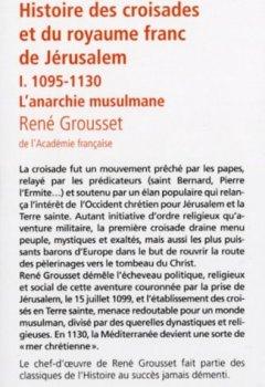 Livres Couvertures de Histoire des croisades (1)