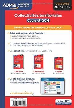 Livres Couvertures de Collectivités territoriales - Cours et QCM - L'essentiel en 54 fiches - Catégories B et C - Concours 2016-2017