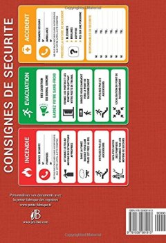 Livres Couvertures de Registre de sécurité: incendie, ERP, commerce, ateliers