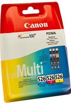 Livres Couvertures de Canon - CLI-526 - Cartouche d'Encre d'Origine - Pack de 3 - Cyan, Magenta, Jaune