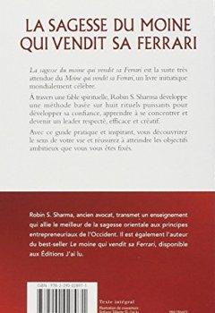 Livres Couvertures de La sagesse du moine qui vendit sa Ferrari : Les huit rituels des leaders visionnaires