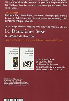 Livres Couvertures de Le Deuxième Sexe, de Simone de Beauvoir (Essai et dossier)