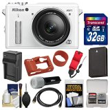 Nikon-1-AW1-Shock-Waterproof-Digital-Camera-Body-with-AW-11-275mm-Lens-White-with-32GB-Card-Silicone-Case-Battery-Charger-LED-Torch-Kit