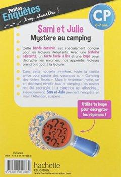 Livres Couvertures de Sami et Julie Mystère au camping CP - Cahier de vacances