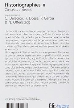 Livres Couvertures de Historiographies (Tome 2): Concepts et débats