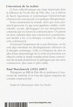 Livres Couvertures de L'invention de la réalité - contributions au constructivisme