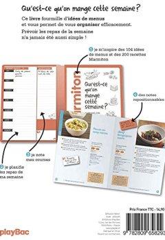 Livres Couvertures de Mes menus Marmiton - Qu'est-ce qu'on mange cette semaine ?