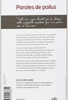 Telecharger Paroles de poilus : Lettres et carnets du front (1914-1918) de Editions 84