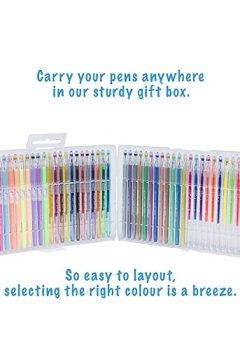 Livres Couvertures de Ensemble de 48 stylos à gel - Conçus pour le coloriage pour adultes : pointe pour les détails compliqués, garantis sans bavure ni erreur. Nouvelle technologie d'encre à longue durée 100% garantis